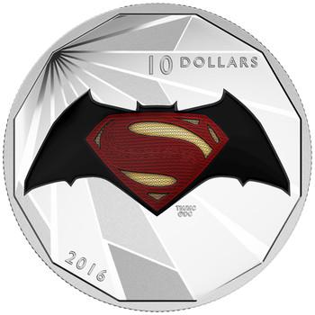 2016 $10 FINE SILVER 4-COIN SET BATMAN V SUPERMAN: DAWN OF JUSTICE™ - WITH COLLECTORS BOX