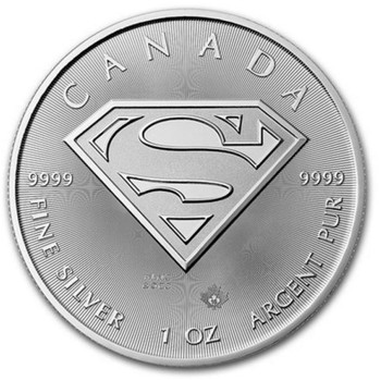 2016 $5 FINE SILVER COIN - SUPERMAN™ S-SHIELD BULLION ISSUE