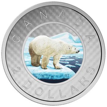 2016 FINE SILVER COIN - BIG COIN SERIES (COLOURED) – 2 DOLLAR TOONIE