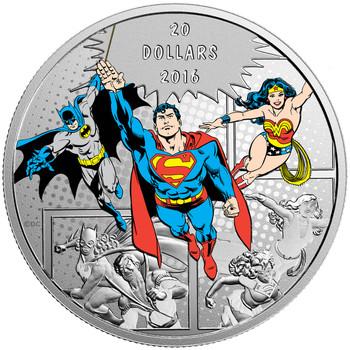 2016 $20 FINE SILVER COIN DC COMICS™ ORIGINALS: THE TRINITY