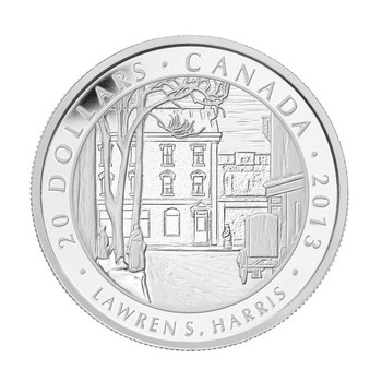 2013 1 OZ FINE SILVER COIN - LAWREN S. HARRIS, TORONTO STREET WINTER MORNING