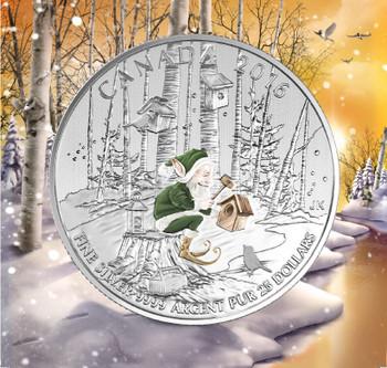 2016 $25 FINE SILVER COIN WOODLAND ELF
