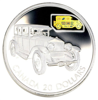2002 $20 SILVER COIN - TRANSPORTATION CAR SERIES - THE GRAY-DORT MODEL 25-SM