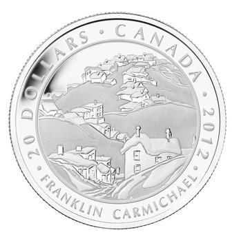 2012 FINE SILVER $20 COIN - CARMICHAEL, HOUSES, COBALT - MINTAGE: 7000