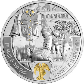 2017 $20 FINE SILVER COIN - FIRST WORLD WAR: BATTLEFRONT SERIES - THE BATTLE OF VIMY RIDGE