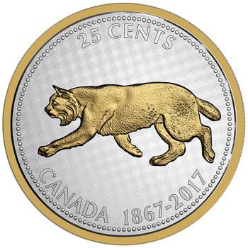 2017 5-OUNCE FINE SILVER COIN - BIG COIN SERIES - ALEX COLVILLE DESIGNS: 25-CENT