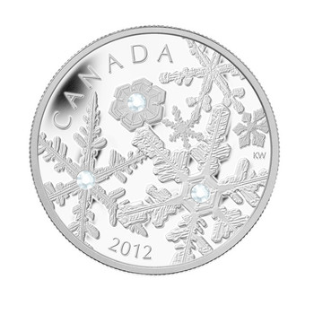 2012 FINE SILVER $20 COIN - HOLIDAY SNOWSTORM - QUANTITY SOLD : 4886