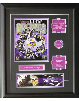 MINNESOTA VIKINGS ALL-TIME GREATS 16X20 FRAME
