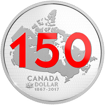 2017 LIMITED EDITION SILVER DOLLAR PROOF SET CANADA 150: OUR HOME AND NATIVE LAND - SOLD OUT AT MINT