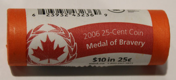 2006 MEDAL OF BRAVERY QUARTER ROLL - SEALED IN ORIGINAL SPECIAL WRAP - 25 CENT