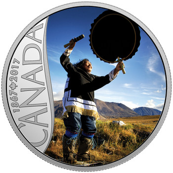 2017 $10 FINE SILVER COIN CELEBRATING CANADA'S 150TH: DRUM DANCING