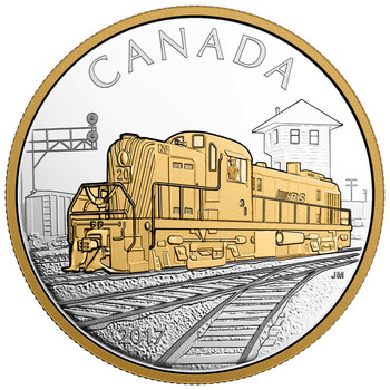 2017 $20 FINE SILVER COIN LOCOMOTIVES ACROSS CANADA: RS 20