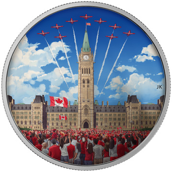 2017 $30 FINE SILVER COIN CELEBRATING CANADA DAY