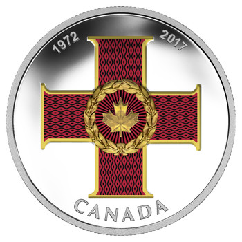 2017 $20 FINE SILVER COIN - CANADIAN HONOURS 45TH ANNIVERSARY OF THE CROSS OF VALOUR