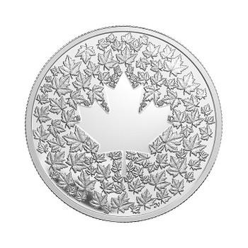 2013 $3 FINE SILVER COIN- MAPLE LEAF IMPRESSION