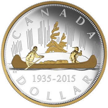 2015 $1 FINE SILVER COIN – RENEWED SILVER DOLLAR: THE VOYAGEUR