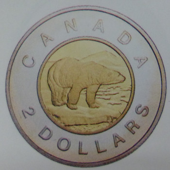 1996 22KT COMMEMORATIVE GOLD COIN - TOONIE