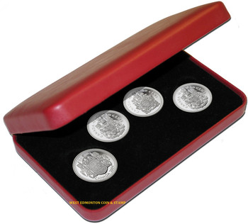 2004 50-CENT STERLING SILVER COIN SET - EFFIGIES OF THE QUEEN