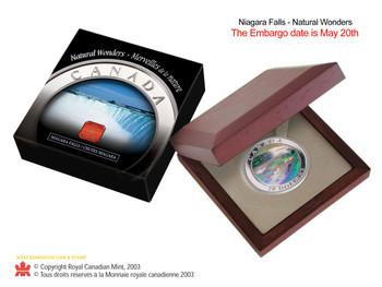 2003 $20 FINE SILVER-NIAGARA FALLS HOLOGRAM