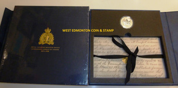 1998 RCMP PRIVY MARK 1OZ. SILVER MAPLE LEAF - COMES IN COMMEMORATIVE BLUE FOLDER WITH WRITE UP