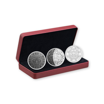 2017 $30 FINE SILVER 3-COIN SET PHASES OF THE MOON