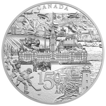 2017 $500 FINE SILVER COIN CANADA 150 FROM COAST TO COAST TO COAST