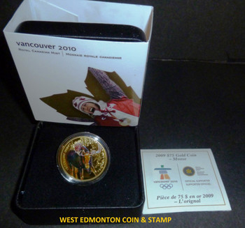 2008 OLYMPIC $75 14KT GOLD COIN - MOOSE