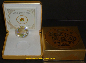 2009 $150 HOLOGRAM GOLD COIN - YEAR OF THE OX