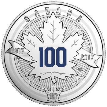 2017 $3 FINE SILVER COIN - 100TH ANNIVERSARY OF THE TORONTO MAPLE LEAFS