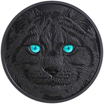 2017 $15 FINE SILVER COIN IN THE EYES OF THE LYNX