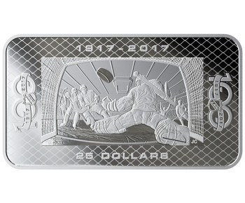 2017 $25 FINE SILVER COIN 100TH ANNIVERSARY OF THE NHL