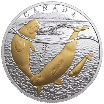2018 $20 FINE SILVER COIN FROM SEA TO SEA TO SEA: ARCTIC BELUGA WHALE