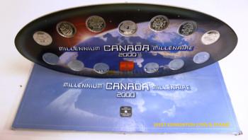 UNCIRCULATED MILLENNIUM 2000 QUARTER SET - 12 SPECIAL EDITION QUARTERS & MEDALLION