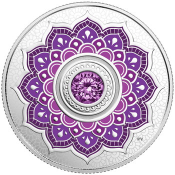 2018 $5 FINE SILVER COIN BIRTHSTONES: FEBRUARY