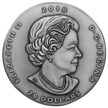 2018 $20 FINE SILVER COIN ANCIENT CANADA: GORGOSAURUS