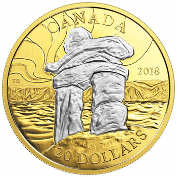 2018 $20 FINE SILVER COIN CANADA'S ICONIC INUKSHUK: GUIDING THE WAY