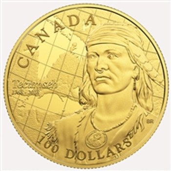 2018 $100 14-KARAT GOLD COIN 250TH ANNIVERSARY OF THE BIRTH OF TECUMSEH
