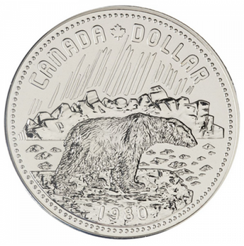 1980 BU COMMEMORATIVE SILVER DOLLAR - ARCTIC TERRITORIES
