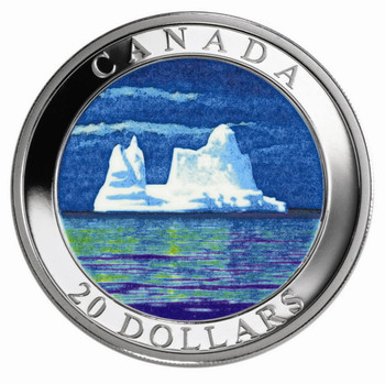2004 $20 PURE SILVER ICEBERGS HOLOGRAM COIN