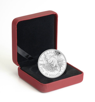 SALE - 2013 $20 FINE SILVER COIN - THE BEAVER