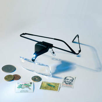 MAGNIFIER GLASSES VISIR WITH LED, 1.5–3.5X