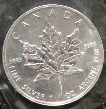 1oz. 1999 CANADIAN SILVER MAPLE LEAF COIN