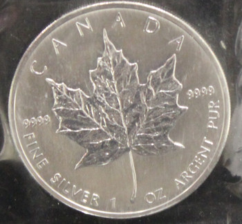 1oz. 2006 CANADIAN SILVER MAPLE LEAF COIN
