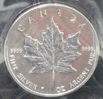 1oz. 2008 CANADIAN SILVER MAPLE LEAF COIN