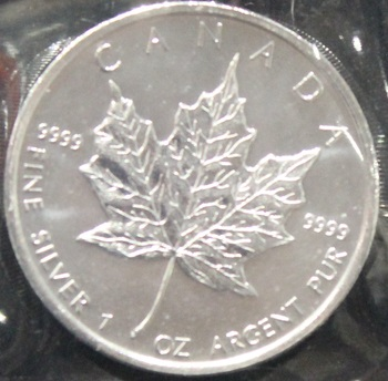 1oz. 2009 CANADIAN SILVER MAPLE LEAF COIN