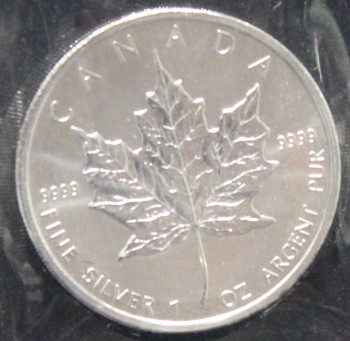 1oz. 2011 CANADIAN SILVER MAPLE LEAF COIN