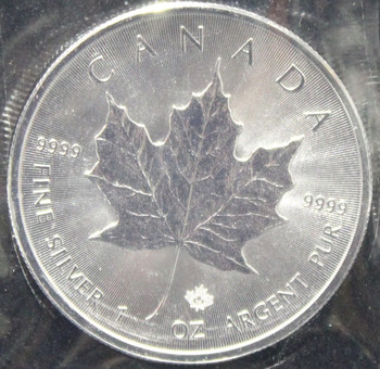 1oz. 2016 CANADIAN SILVER MAPLE LEAF COIN