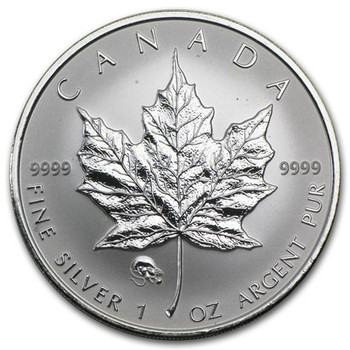 1oz. 2008 CANADIAN YEAR OF THE RAT  PRIVY MARK SILVER MAPLE LEAF COIN
