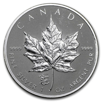 1oz. 2012 CANADIAN YEAR OF THE DRAGON PRIVY MARK SILVER MAPLE LEAF COIN