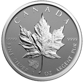 1oz. 2016 CANADIAN GRIZZLY PRIVY MARK SILVER MAPLE LEAF COIN